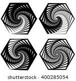 various abstract spiral  vortex ... | Shutterstock .eps vector #400285054