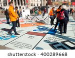 trafalgar square  london  uk.... | Shutterstock . vector #400289668