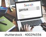 genius smart expert brilliant... | Shutterstock . vector #400296556