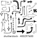 hand drawing arrow. vector. | Shutterstock .eps vector #400297600