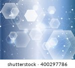molecule structure and... | Shutterstock .eps vector #400297786