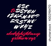 vector handwritten brush script.... | Shutterstock .eps vector #400298470