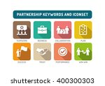 partnership flat icon set | Shutterstock .eps vector #400300303