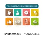 personal growth flat icon set | Shutterstock .eps vector #400300318