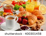 breakfast consisting of... | Shutterstock . vector #400301458