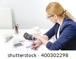 photo of the business woman... | Shutterstock . vector #400302298