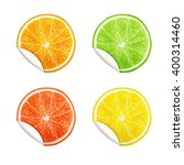 set of citrus fruits. orange ... | Shutterstock .eps vector #400314460