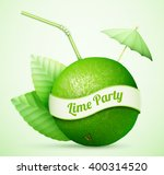 fresh lime with umbrella and... | Shutterstock .eps vector #400314520