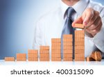 businessman building the... | Shutterstock . vector #400315090