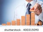 businessman building the... | Shutterstock . vector #400315090