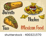 mexican traditional food set... | Shutterstock .eps vector #400321570