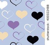 cute vector seamless pattern.... | Shutterstock .eps vector #400322488