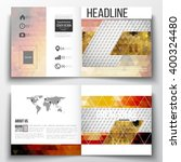 vector set of tri fold... | Shutterstock .eps vector #400324480