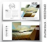 vector set of square design... | Shutterstock .eps vector #400324660