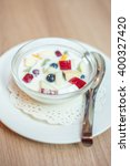 Fruit Salad With Soy Milk