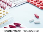 assorted colorful antipyretics... | Shutterstock . vector #400329310