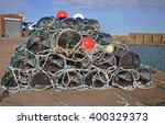 Lobster Creels  Or Pots  Piled...