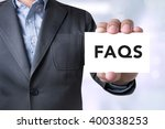 frequently asked questions faq... | Shutterstock . vector #400338253