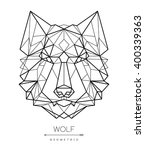 geometric wolf head. tattoo  t... | Shutterstock .eps vector #400339363