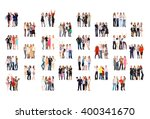 office culture many colleagues  | Shutterstock . vector #400341670