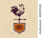vector logo. chicken farm.... | Shutterstock .eps vector #400349134