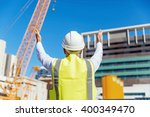 engineer builder at... | Shutterstock . vector #400349470
