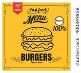 restaurant fast foods menu... | Shutterstock .eps vector #400349836