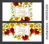 romantic invitation. wedding ... | Shutterstock . vector #400353100