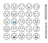 set of smiley faces icons | Shutterstock .eps vector #400353508