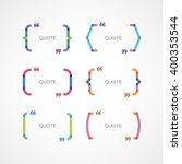 color brackets with quotes | Shutterstock .eps vector #400353544