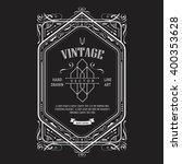vintage border western label... | Shutterstock .eps vector #400353628