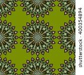 round mandala seamless pattern. ... | Shutterstock .eps vector #400354894