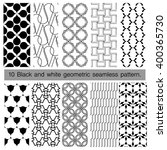 collection of black and white... | Shutterstock .eps vector #400365730
