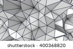 grey low poly 3d surface.... | Shutterstock . vector #400368820