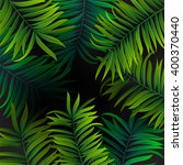 tropical palm leaves design for ... | Shutterstock .eps vector #400370440