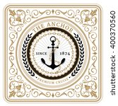 nautical the anchor retro card... | Shutterstock .eps vector #400370560