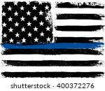 american flag with thin blue... | Shutterstock .eps vector #400372276