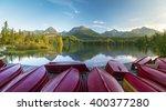 mountain lake in the italian...   Shutterstock . vector #400377280