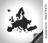 map of europe | Shutterstock .eps vector #400379374