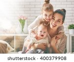 happy loving family. mother and ... | Shutterstock . vector #400379908