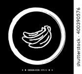 banana in circle icon set great ...