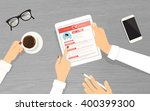 hr managers searching an... | Shutterstock .eps vector #400399300