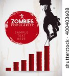 spooky rotten zombie hand... | Shutterstock .eps vector #400403608