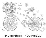 Bike With Flower In Basket On...