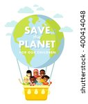 planet earth children concept.... | Shutterstock .eps vector #400414048
