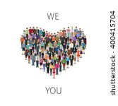 heart shape build of many...   Shutterstock .eps vector #400415704
