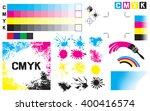 cmyk press marks  printing...