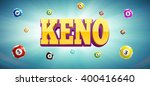 keno lottery balls and place... | Shutterstock .eps vector #400416640