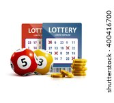 lottery icon realistic objects... | Shutterstock .eps vector #400416700