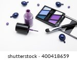makeup products in purple tone | Shutterstock . vector #400418659